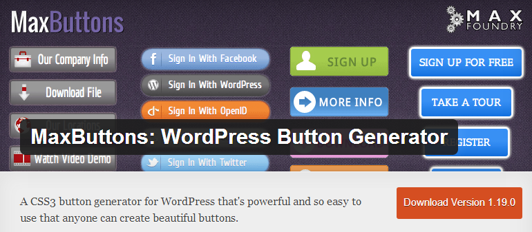 Create Beautiful CSS Buttons and Boxes with these WordPress