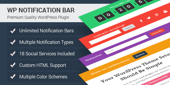 WP Notification Bar: best pop up wordpress plugin