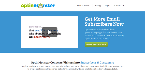 OptinMonster: Email List Management Software