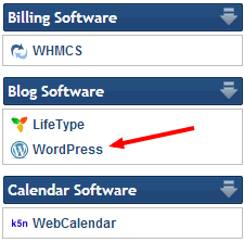 Click on WordPress