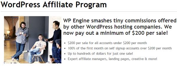 WP Engine: Top Affiliate Marketing Programs