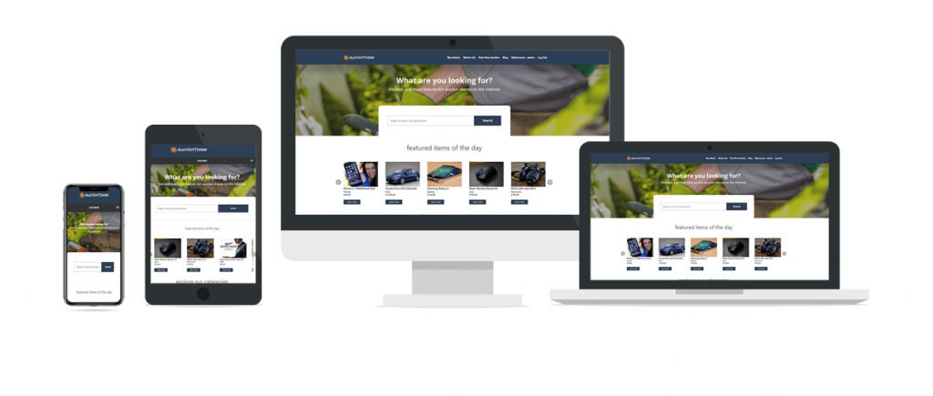 Responsive Auction Theme: WordPress eBay Theme