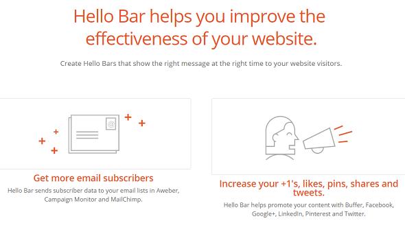 Hello Bar optin: wordpress email optin plugin
