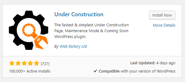 Under Construction Plugin add