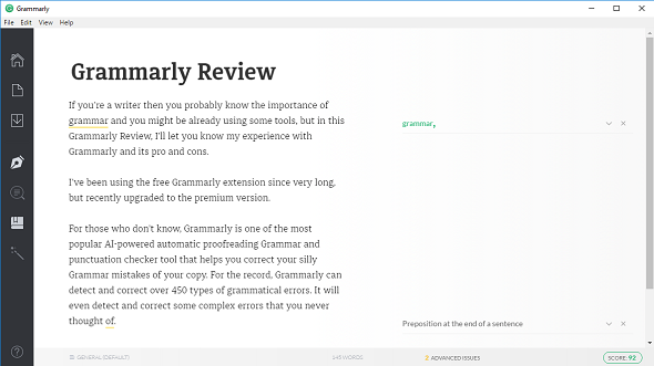 Grammarly Windows App