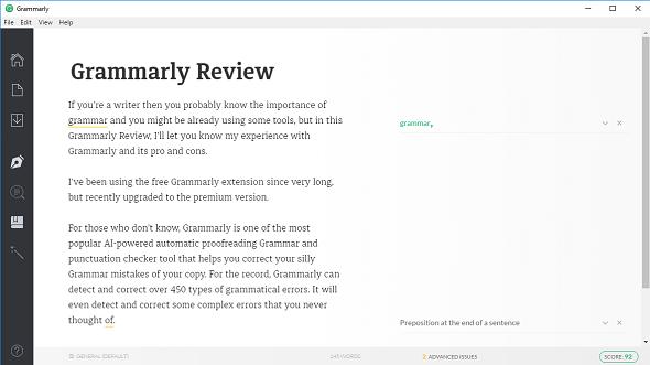 Grammarly Windows App