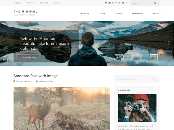 best minimalist WordPress themes free