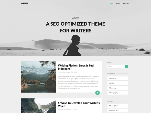 Free medium clone WordPress theme