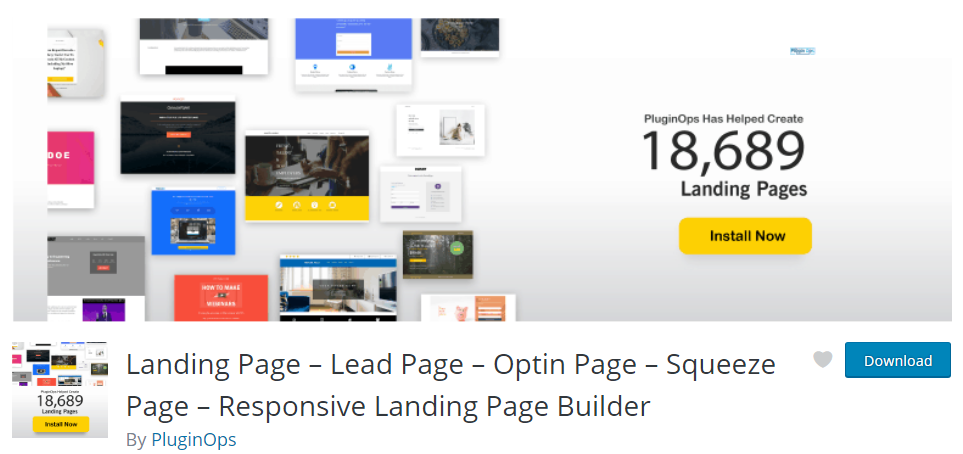 WordPress landing page free