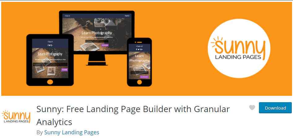 Sunny lead page builder