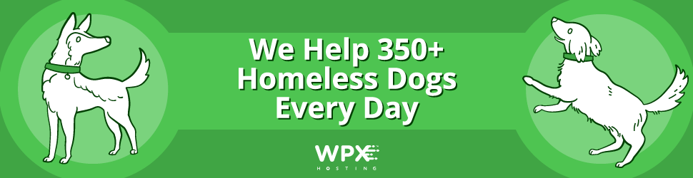 WPX hosting dogs charity